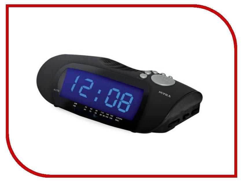Часы настольные SUPRA SA-16FM Black-Blue<br>