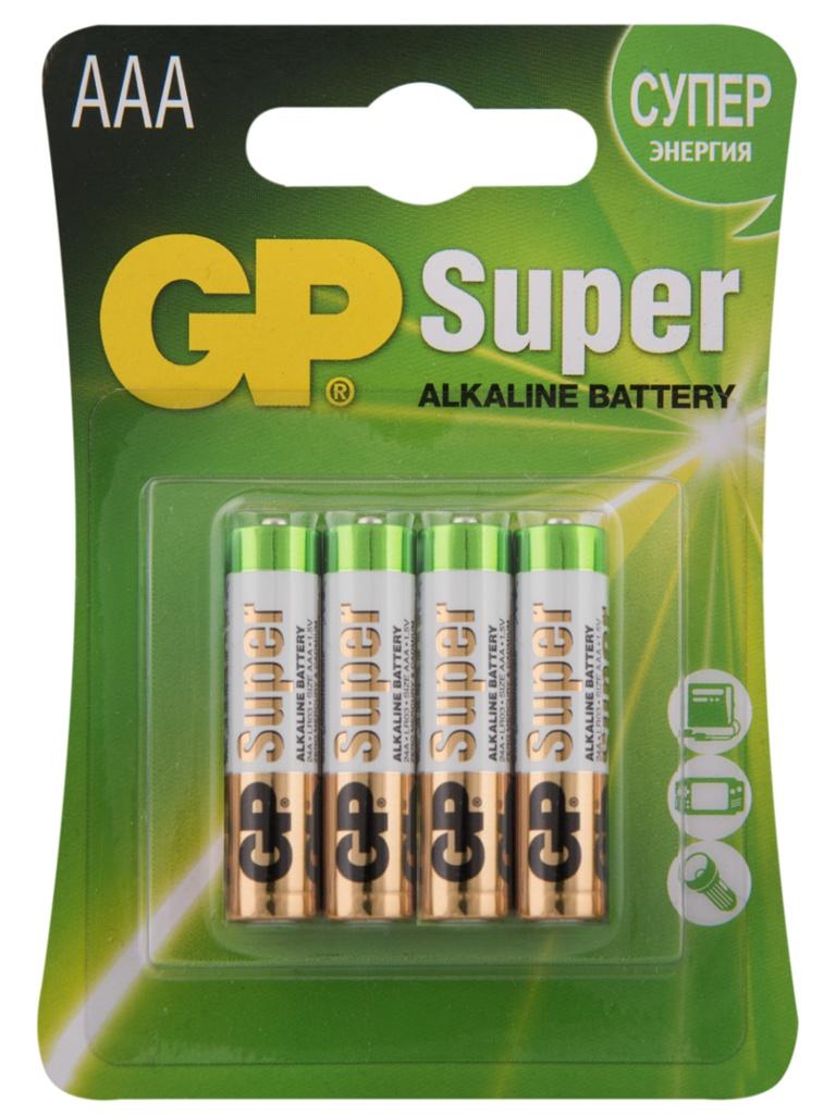 Батарейка AAA - GP Alkaline LR03 24A-2CR4 (4 штуки)
