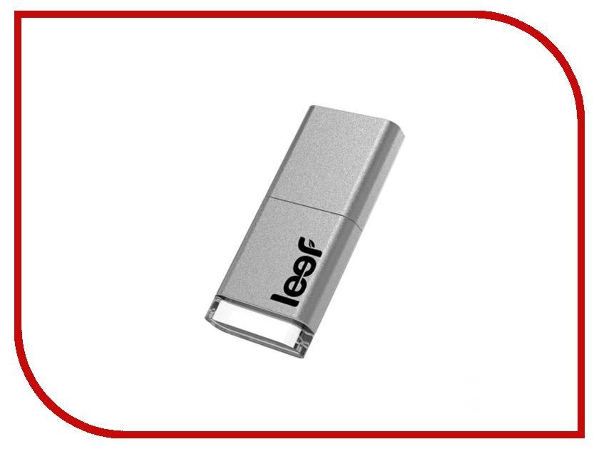 USB Flash Drive 64Gb - Leef Magnet 3.0 Silver LFMGN-064SWR<br>