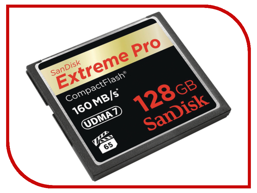 Карта памяти 128Gb - SanDisk Extreme Pro CF 160MB/s - Compact Flash SDCFXPS-128G-X46