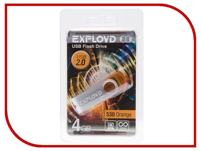 USB Flash Drive 4Gb - Exployd 530 Orange EX004GB530-O<br>
