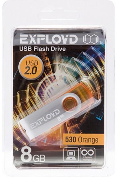 Фото - USB Flash Drive 8Gb - Exployd 530 Orange EX008GB530-O usb flash drive 8gb exployd 560 red ex 8gb 560 red