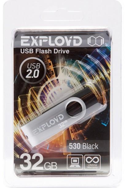 USB Flash Drive 32Gb - Exployd 530 Black EX032GB530-B