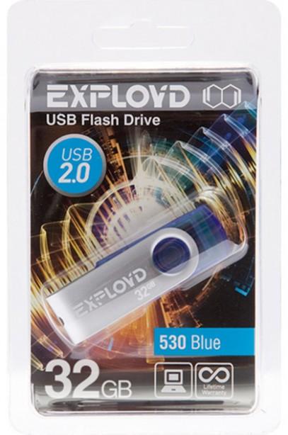 USB Flash Drive 32Gb - Exployd 530 Blue EX032GB530-Bl
