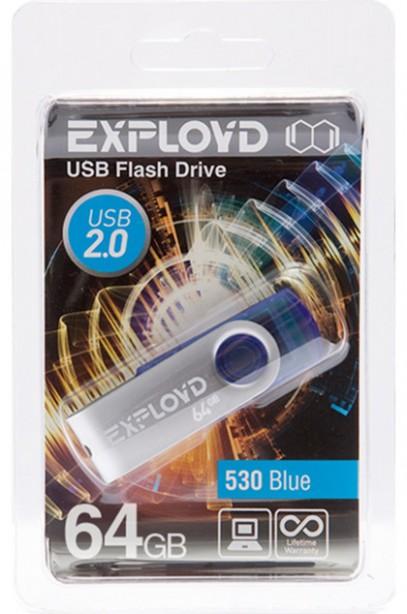 USB Flash Drive 64Gb - Exployd 530 Blue EX064GB530-Bl