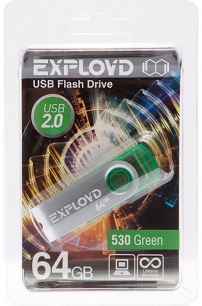USB Flash Drive 64Gb - Exployd 530 Green EX064GB530-G