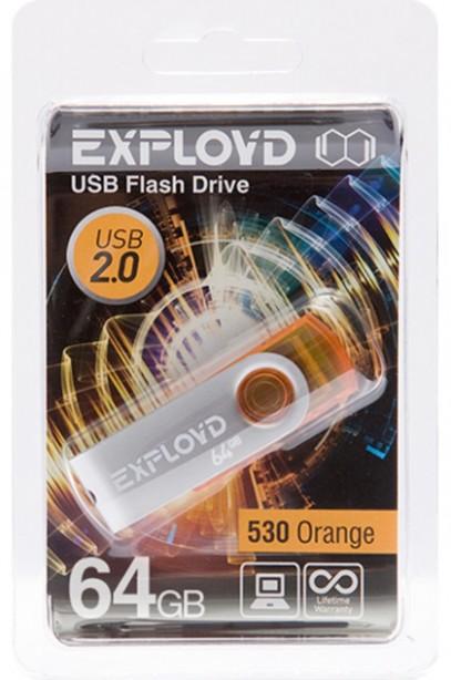 USB Flash Drive 64Gb - Exployd 530 Orange EX064GB530-O