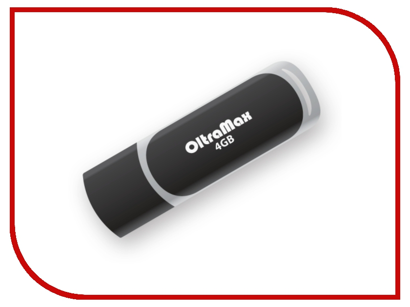 USB Flash Drive 4Gb - OltraMax 20 Black OM004GB20-B