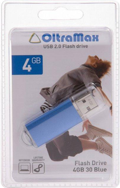 USB Flash Drive 4Gb - OltraMax 30 Blue OM004GB30-Bl.