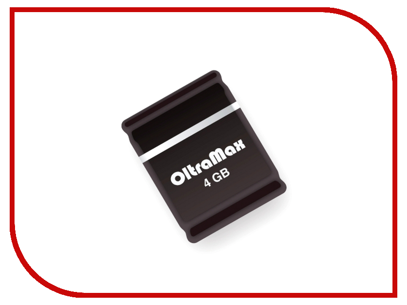 USB Flash Drive 4Gb - OltraMax 50 Black OM004GB-mini-50-B