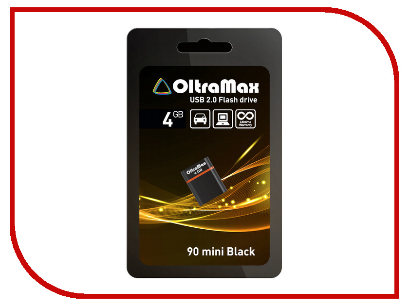 USB Flash Drive 4Gb - OltraMax 90 Mini Black OM004GB-mini-90-B