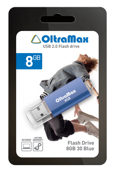 USB Flash Drive 8Gb - OltraMax 30 Blue OM008GB30-Bl