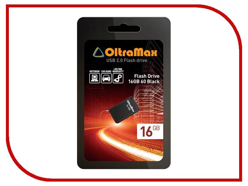 USB Flash Drive 16Gb - OltraMax 60 Black OM016GB-mini-60-B<br>