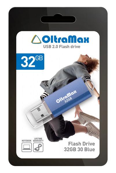 цена на USB Flash Drive 32Gb - OltraMax 30 Blue OM032GB30-Bl