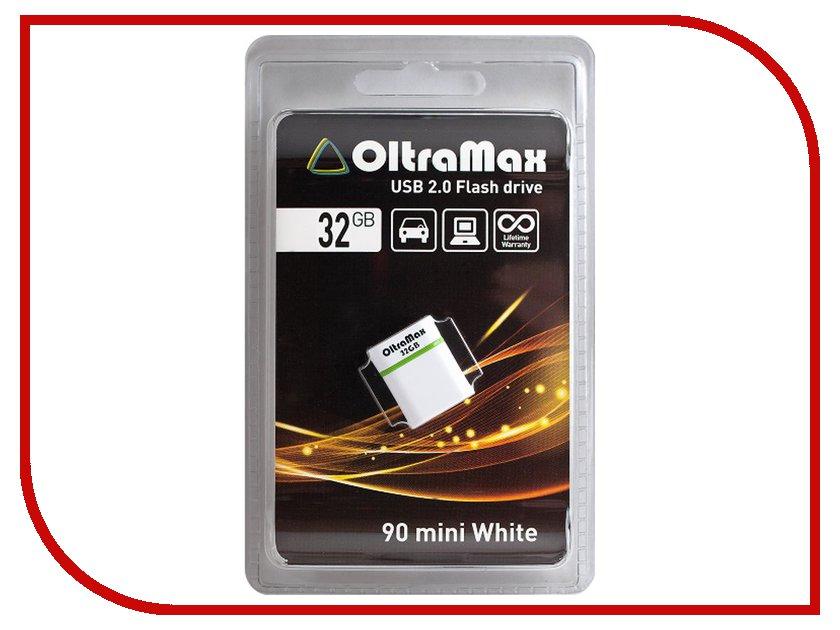 USB Flash Drive 32Gb - OltraMax 90 Mini White OM032GB-mini-90-W<br>