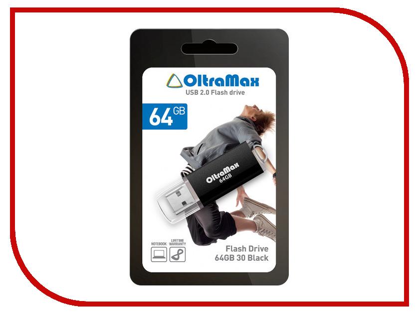 USB Flash Drive 64Gb - OltraMax 30 Black OM064GB30-B usb flash drive 64gb oltramax 240 black om 64gb 240 black