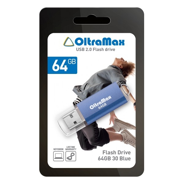 USB Flash Drive 64Gb - OltraMax 30 Blue OM064GB30-Bl.