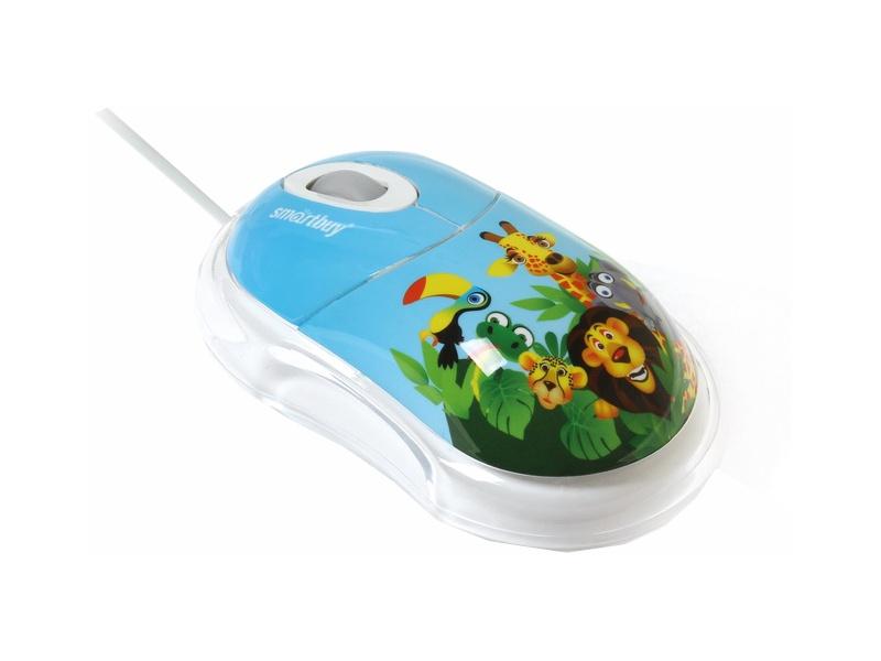Мышь проводная Smartbuy SBM-320-AZ African Zoo Blue USB
