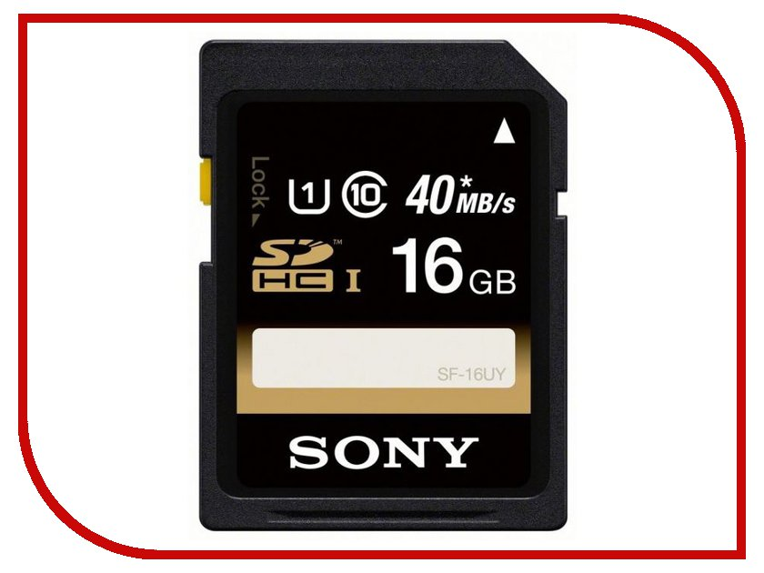 Карта памяти 16Gb - Sony UHS-1 R40 Class 10 Secure Digital SF-16UY карта памяти compactflash sony qd n64 j