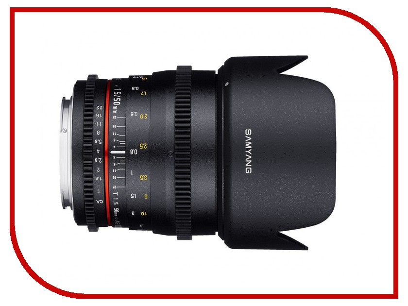 Объектив Samyang Canon 50 mm T1.5 AS UMC VDSLR купить объектив 50 мм canon