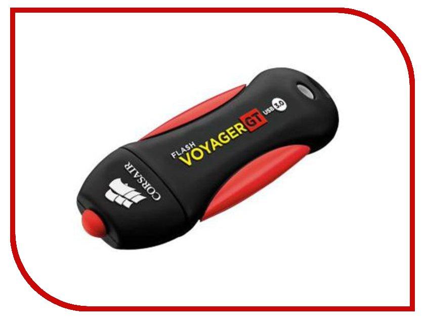 USB Flash Drive 64Gb - Corsair Voyager GT CMFVYGT3B-64GB Black/Red<br>