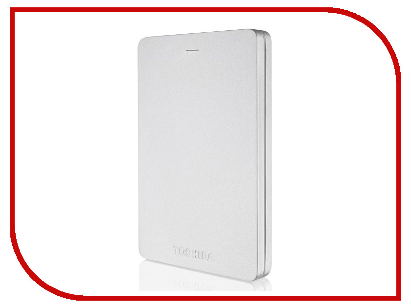 Жесткий диск Toshiba Canvio Alu 1Tb Silver HDTH310ES3AA toshiba p300 hdwd130uzsva