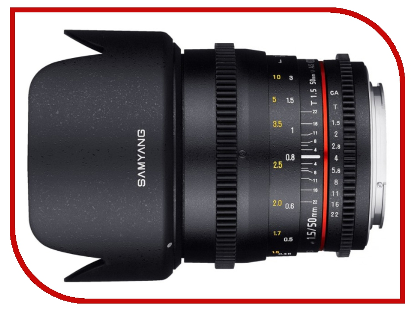 Объектив Samyang 50mm T1.5 AS UMC VDSLR Canon M объектив samyang canon m 50 mm t1 3 as umc cs
