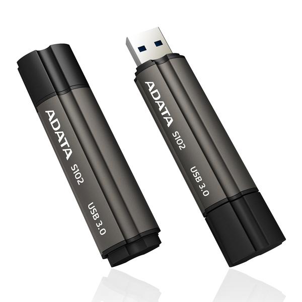 USB Flash Drive 64Gb - A-Data S102 Pro 3.0 Black AS102P-64G-RGY