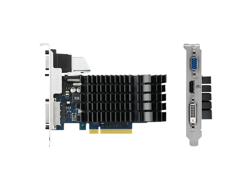 Видеокарта ASUS GeForce GT 720 797Mhz PCI-E 2.0 2048Mb 1800Mhz 64 bit DVI HDMI HDCP GT720-SL-2GD3-BRK<br>