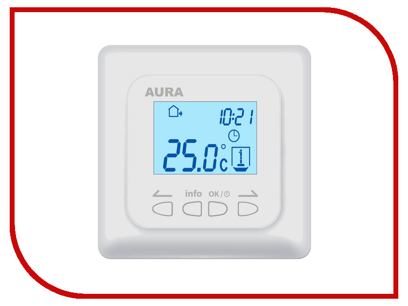 Аксессуар AURA LTC 730 White терморегулятор<br>