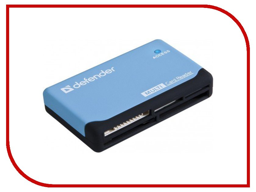 Карт-ридер Defender Ultra USB 2.0 Black-Blue 83500
