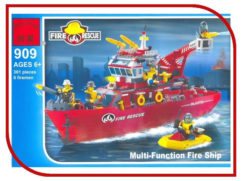 Конструктор Enlighten Brick Спасательный корабль 909 конструктор enlighten brick город 1120 радостное путешествие г72908