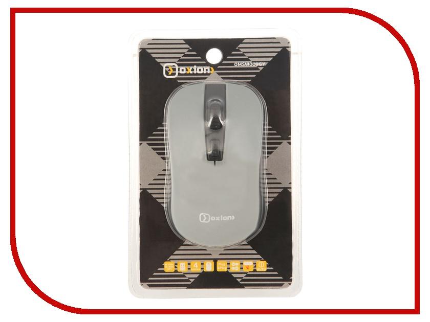 Мышь беспроводная Oxion OMSW009GY Grey USB