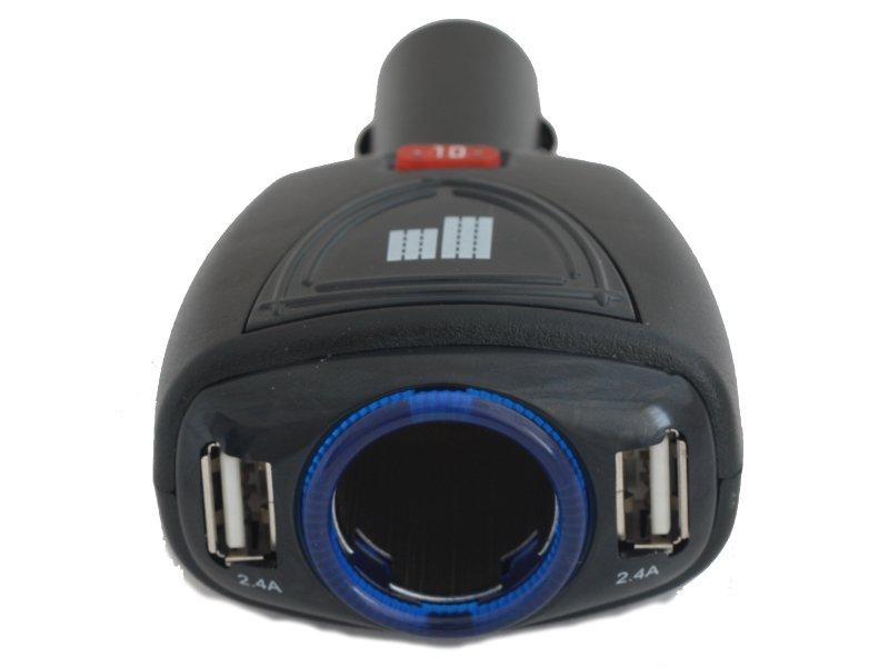Parkcity Аксессуар Разветвитель прикуривателя на 1 гнездо и 2 USB выхода ParkCity SM-121