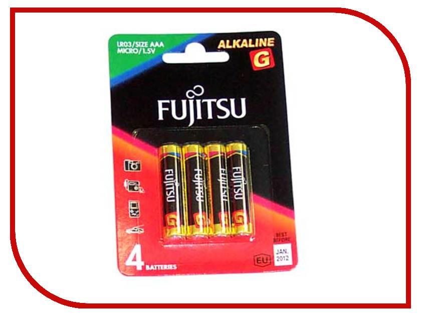 Батарейка AAA - Fujitsu LR03G/4B Alkaline G (4 штуки)<br>