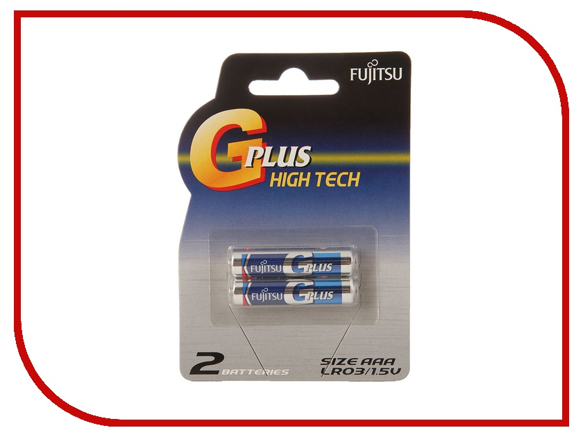 Батарейка AAA - Fujitsu LR03GPLUS/2B Alkaline G Plus (2 штуки)<br>