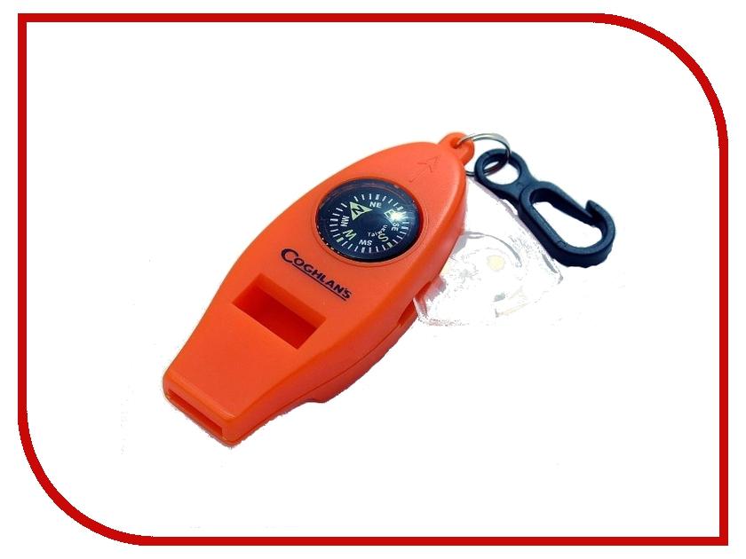 Брелок Coghlans 0045 Свисток с 4-мя функциями Orange