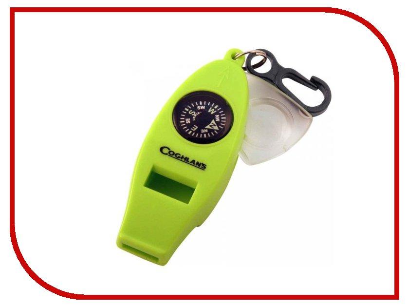 Брелок Coghlans 0045 - Свисток с 4-мя функциями Green