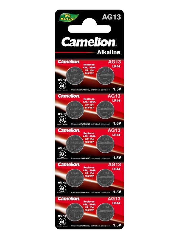 Батарейка Camelion LR44 G13 BL-10 AG13-BP10 (1 штука)