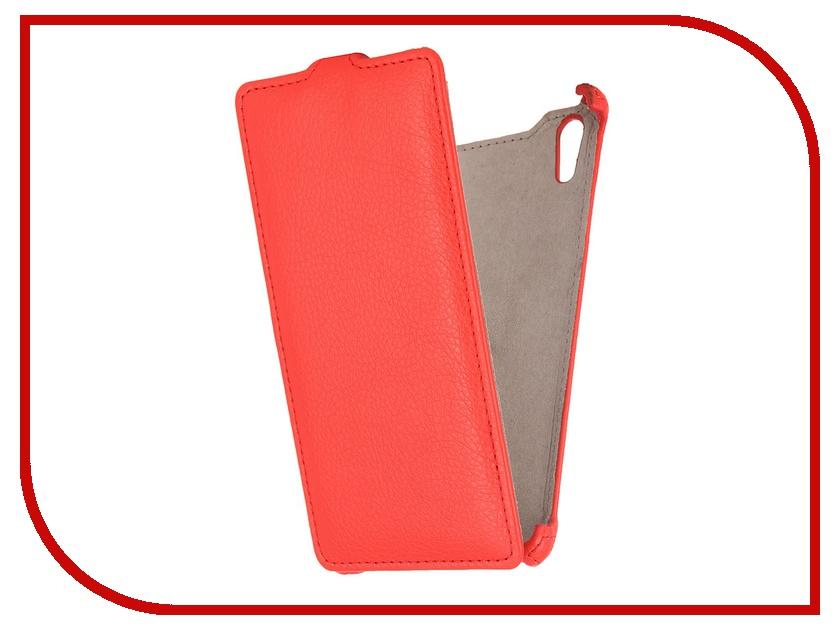 Аксессуар Чехол Sony Xperia T3 Ainy кожаный Red