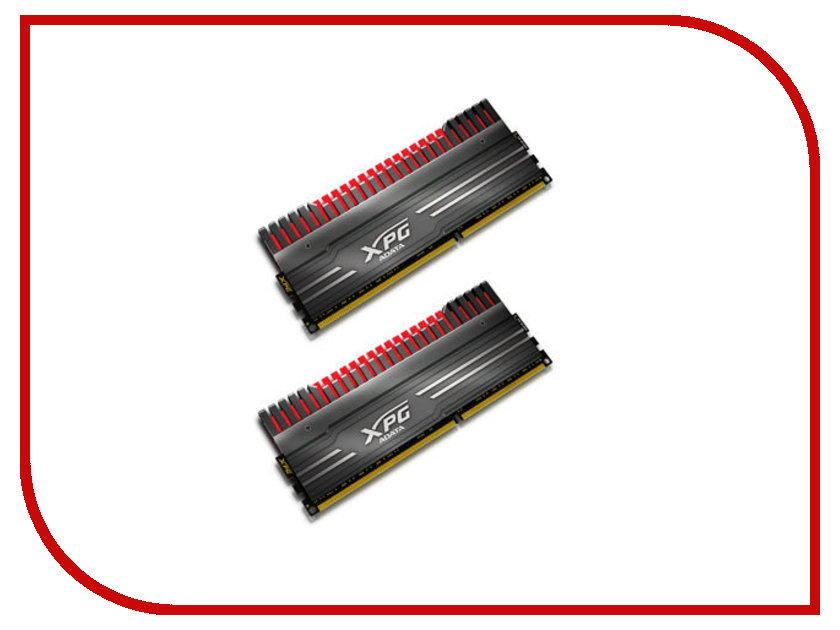 Модуль памяти A-Data XPG V3 DDR3 DIMM 2133MHz PC3-17000 CL10 - 8Gb KIT (2x4Gb) AX3U2133W4G10-DBV-RG Black