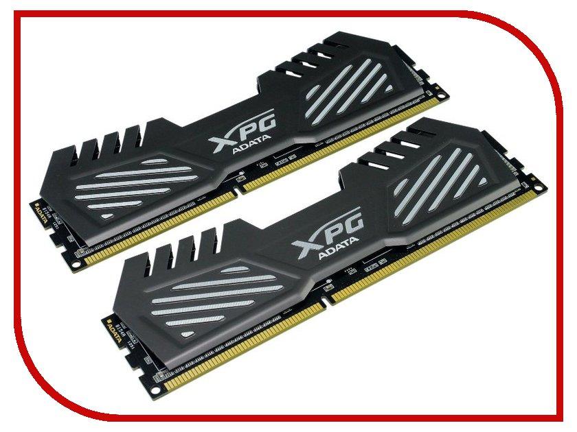 Модуль памяти A-Data XPG V2 PC3-19200 DIMM DDR3 2400MHz CL11 - 8Gb KIT (2x4Gb) AX3U2400W4G11-DMV Dark Grey<br>