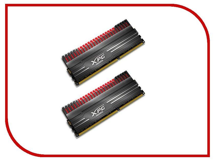 Модуль памяти A-Data XPG V3 DDR3 DIMM 1866MHz PC3-14900 CL10 - 16Gb KIT (2x8Gb) AX3U1866W8G10-DBV-RG Black<br>