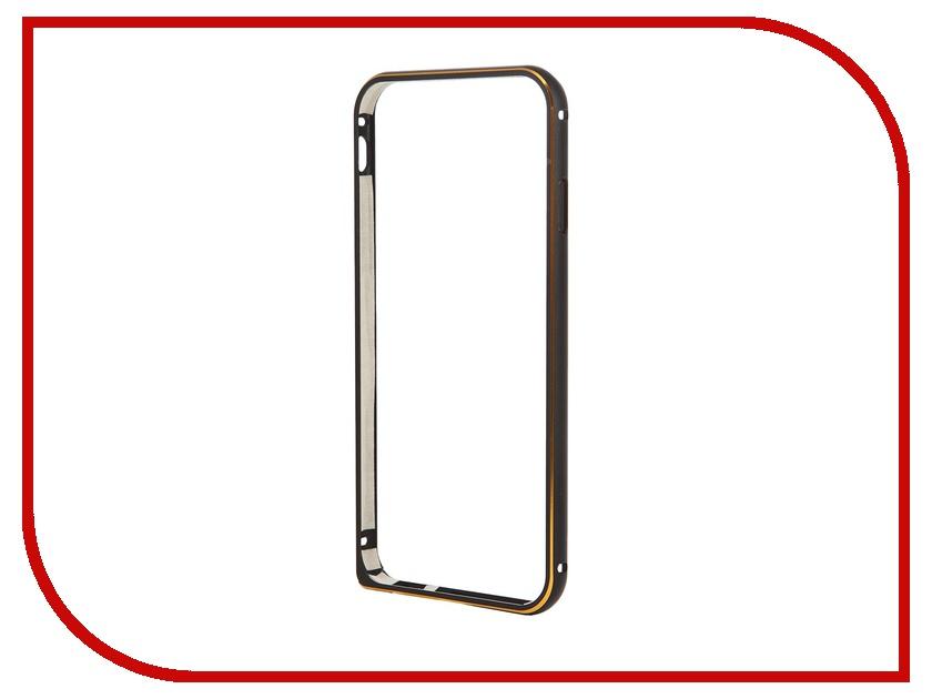 Аксессуар Чехол-бампер Ainy для iPhone 6 Black QC-A001A чехол универсальный ainy