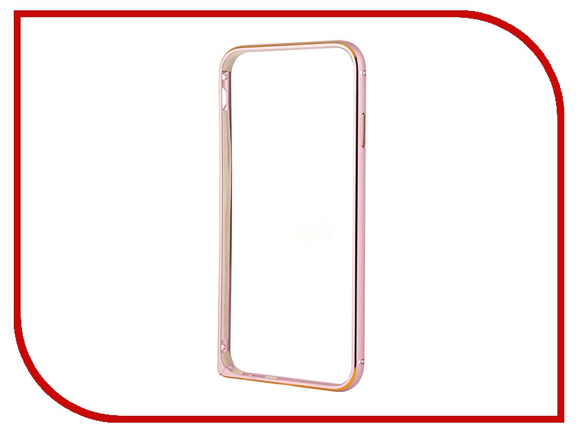 Аксессуар Чехол-бампер Ainy для iPhone 6 Pink QC-A001D<br>