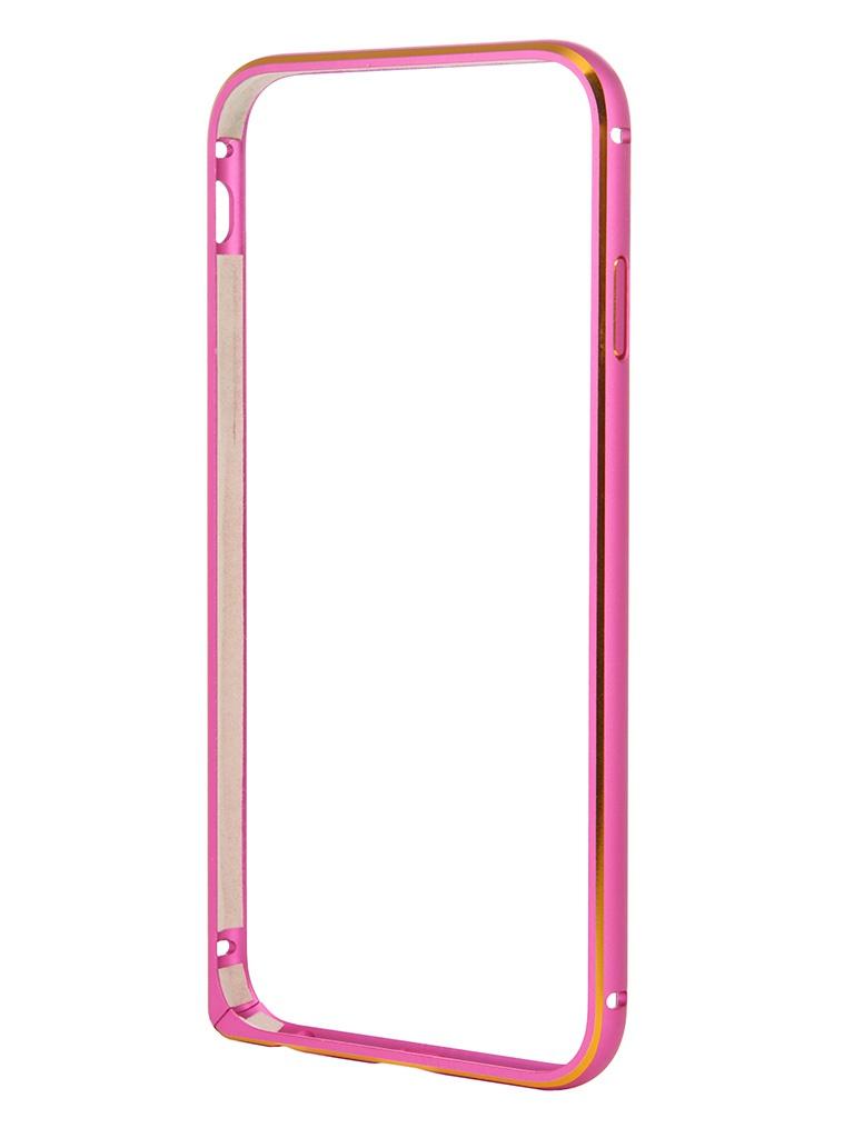Аксессуар Чехол-бампер Ainy for iPhone 6 Raspberry QC-A001J