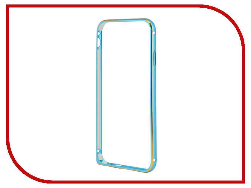 Аксессуар Чехол-бампер Ainy для iPhone 6 Blue QC-A001N