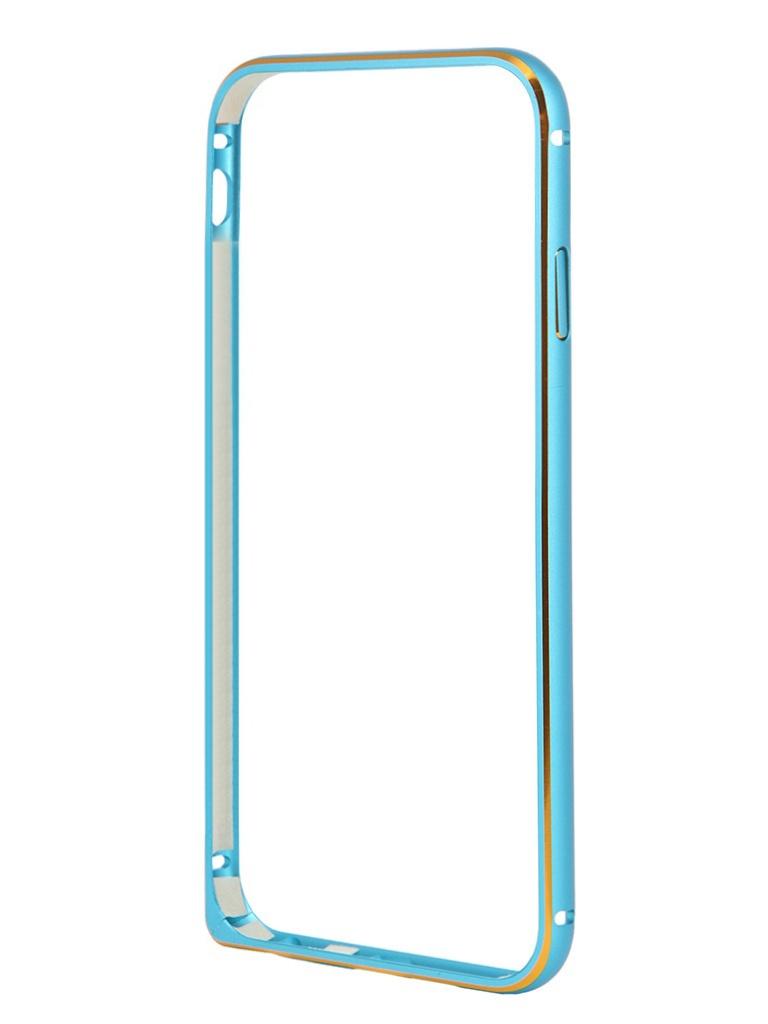 Аксессуар Чехол-бампер Ainy for iPhone 6 Blue QC-A001N