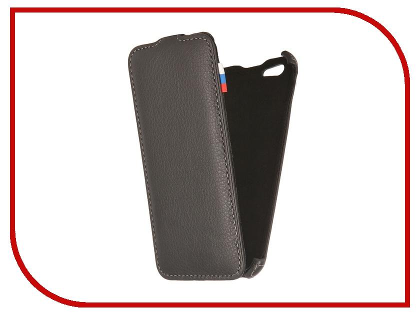 Аксессуар Чехол Ainy for iPhone 6 кожаный, вертикальный Black<br>