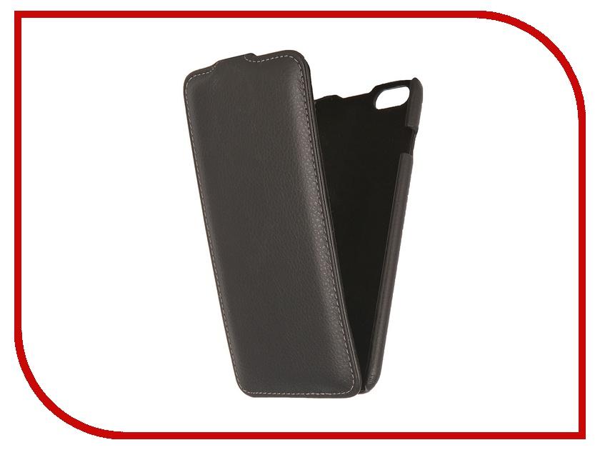 Аксессуар Чехол Ainy for iPhone 6 Plus кожаный, вертикальный Black